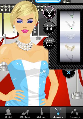 Screenshot Dress Up and Makeup: Red Carpet